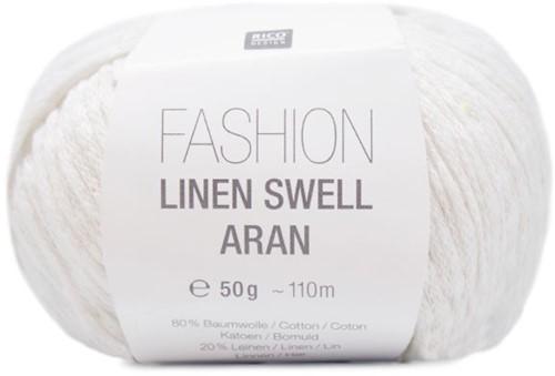 Rico Fashion Linen Swell Aran 001 White
