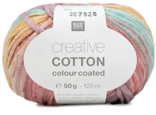 Rico Creative Cotton Colour Coated 001 Pink/Blue