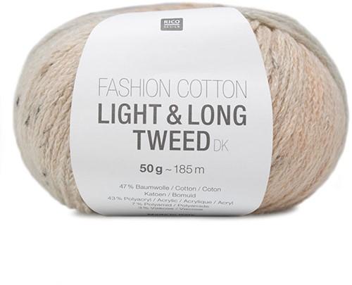 Rico Fashion Cotton Light & Long Tweed dk 002 Salmon-blue