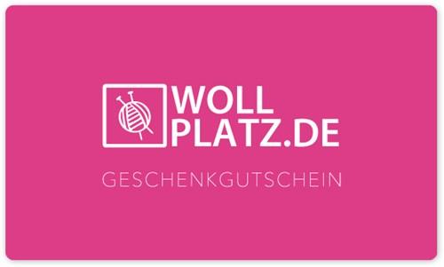 Wollplatz.de Geschenkkarte 15 Euro + Luxuriöse Verpackung
