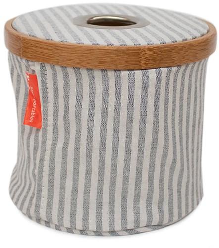Wollspender Faltbar Tuchstoff und Bambus S Grau Gestreift