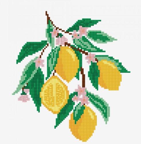 Stickanleitung Zitronen