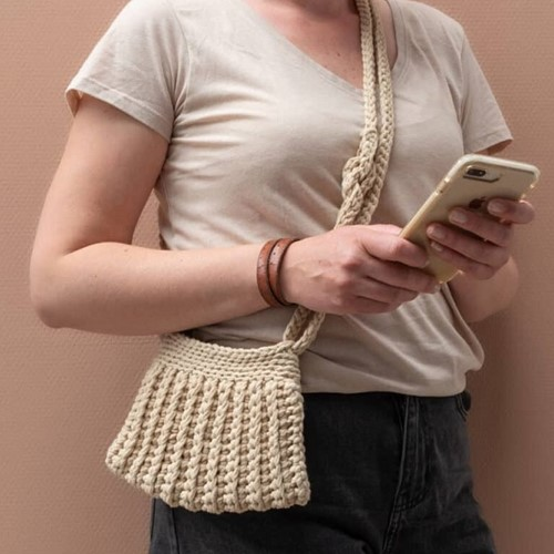 Yarn and Colors Cool Cross Body Bag Häkelpaket 1 Limestone
