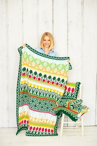Letitia's Garden Blanket CAL Garnpaket 1 Cottage Garden S