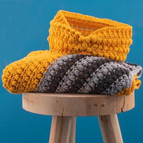 Häkelanleitung Yarn and Colors Criss Cross Dot Headband
