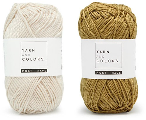 Yarn and Colors Must-Have Cushion Häkelpaket 1 Cream / Gold