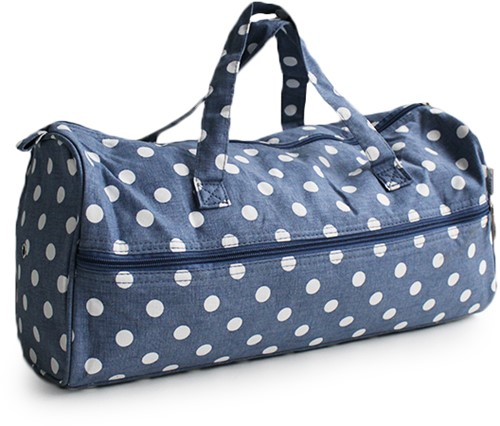 Stricktasche Denim Polka Dot
