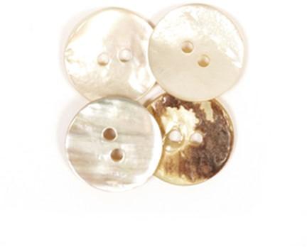 Drops Knopf Gekrümmt Weiß 20mm