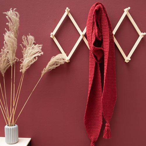 Yarn and Colors Soft Serene Schal Häkelpaket 1 Burgundy