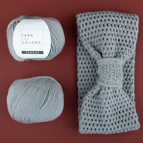 Yarn and Colors Soft Serene Stirnband Häkelpaket 2 Shark Grey