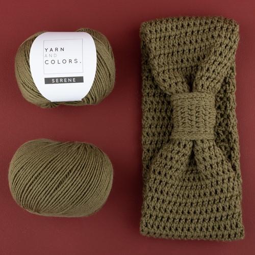 Yarn and Colors Soft Serene Stirnband Häkelpaket 1 Olive
