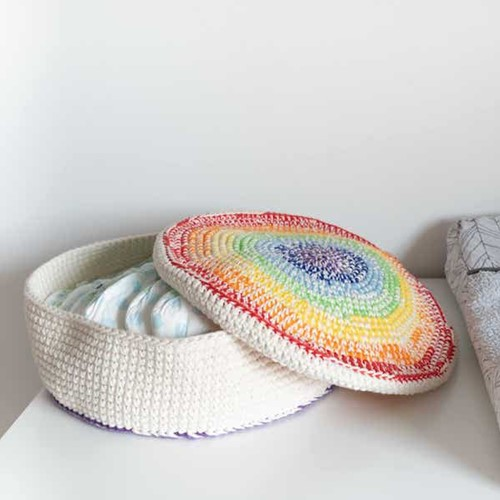 Yarn and Colors Rainbow Basket Häkelpaket 1 Colorful