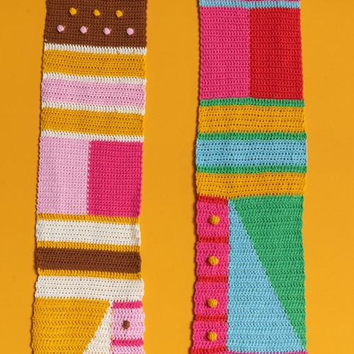 Häkelanleitung Yarn and Colors Graphic Scarf
