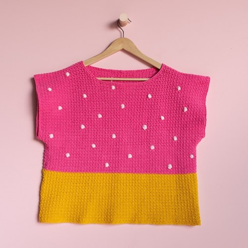 Yarn and Colors 'Baby You Look Fabulous' Top Häkelpaket S 2 Girly Pink