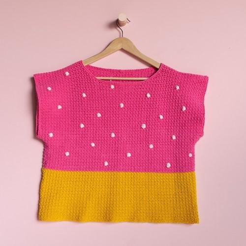 Yarn and Colors 'Baby You Look Fabulous' Top Häkelpaket L 2 Girly Pink