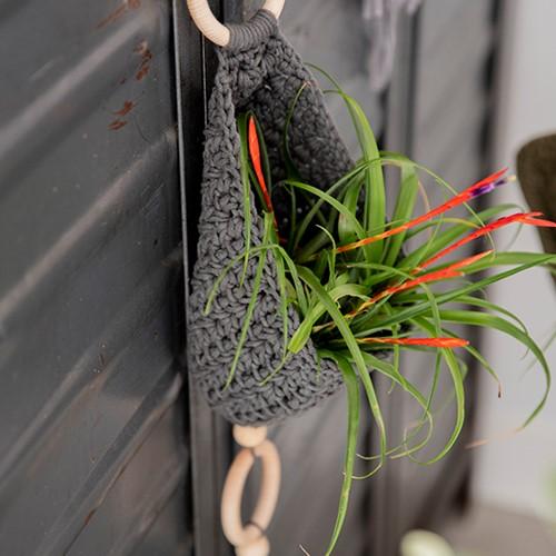 Homedeko Blumenampel Häkelpaket 3 Industrial
