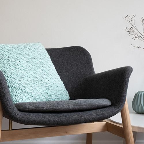 Yarn and Colors Basketweave Comfy Cushion Häkelpaket 073 Jade Gravel