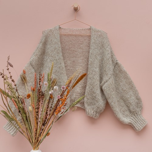 Yarn and Colors Cloud Cardigan Crochet Häkelpaket S/M 002 Cream