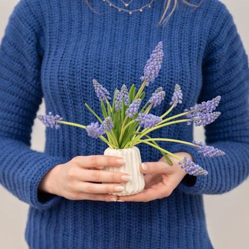 Yarn and Colors Elegant Brunch Time Sweater Häkelpaket XS Navy Blue