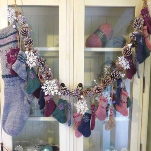 Strickanleitung Stylecraft Highland Heathers DK No. F084 Weihnachtssocken Adventskalender