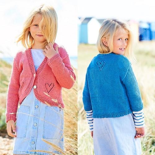 Strickanleitung Stylecraft Naturals - Organic Cotton DK No. F088 Mädchenjacken