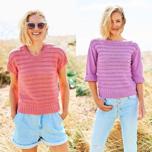 Strickanleitung Stylecraft Naturals - Organic Cotton DK No. F091 Ladies Tops