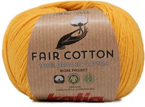 Fair Cotton Bolero Häkelpaket 1 46/48 Yellow