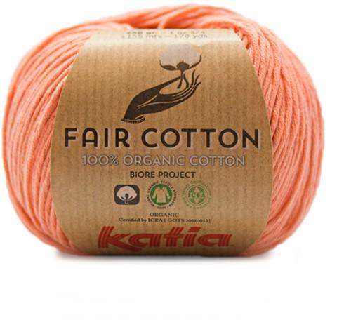 Fair Cotton Sommertop Häkelpaket 2 38/40 Salmon-Orange