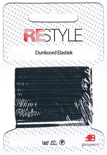 Restyle Rundgummiband 4m/1,4mm schwarz