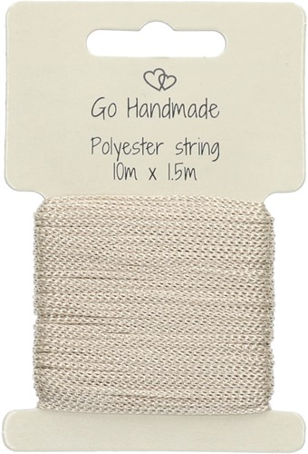 Go Handmade Polyester Kordel 2 Beige