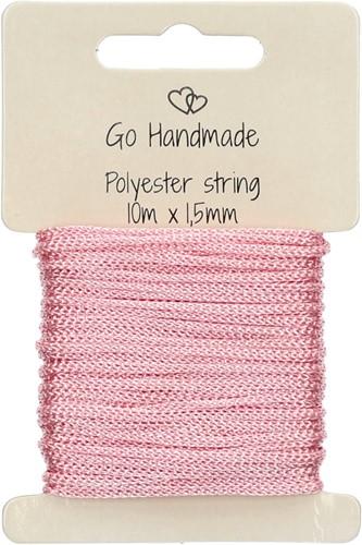 Go Handmade Polyester Kordel 4 Rosa