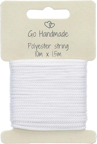 Go Handmade Polyester Korder 6 Weiß