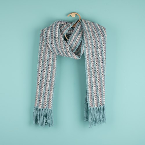 Yarn and Colors Fringed Scarf Häkelpaket 072 Glass