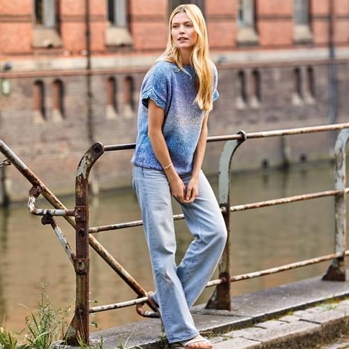 Amoroso Top Strickpaket  1 36/38 Light gray / jeans / violet blue / gray