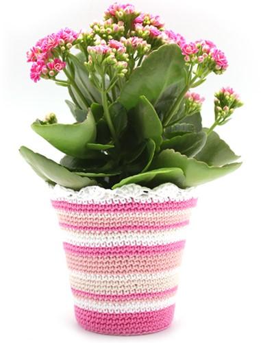 Häkelanleitung Blumentopf
