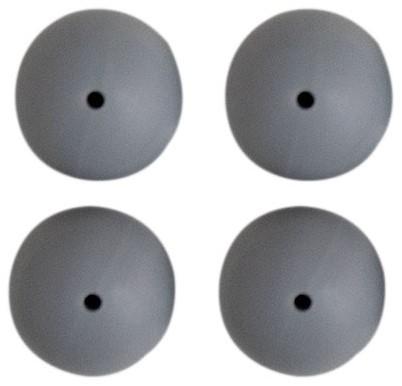 Silikonperlen 4 Stück 25 Grau
