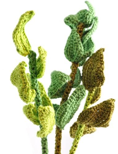 Häkelanleitung Grüne Blätter