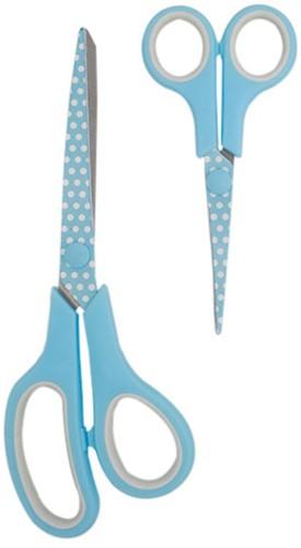 Hemline Set Stoffschere (21cm) & Stickschere  (13,5cm) Blue