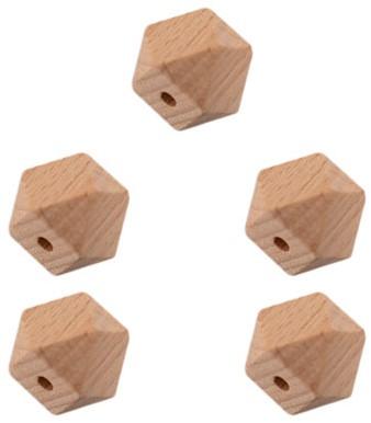 Durable Holz Hexagonperlen 5 Stück 10mm