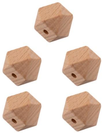 Durable Holz Hexagonperlen 5 Stück 14mm