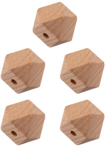 Durable Holz Hexagonperlen 5 Stück 20mm