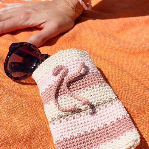 Häkelanleitung Sonnenbrillen Etui Streif