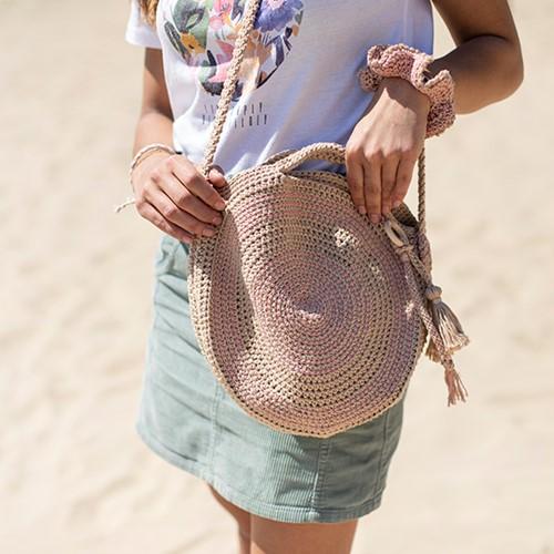Häkelanleitung Runde Tasche mit Taschenaufhänger