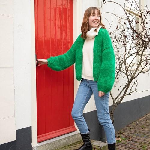 Bernadette Strickjacke Karin Strickpaket 1 Green