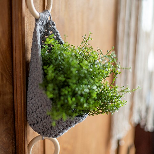 Homedeko Blumenampel Häkelpaket 2 Landhausstil