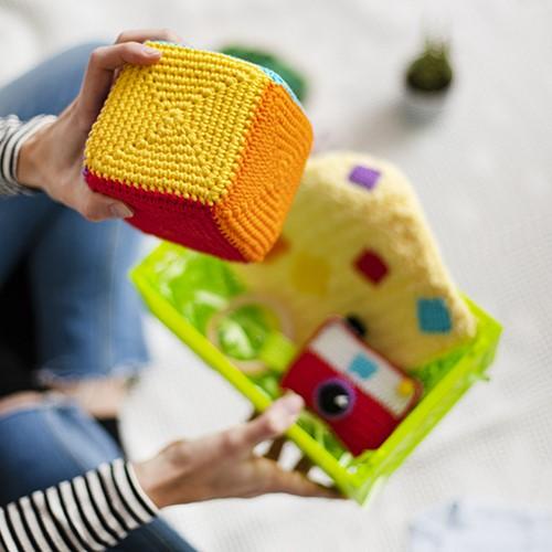 Babypaket Grün Würfel Häkelpaket