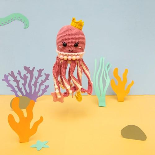 Tintenfisch Spielkuscheltier Häkelpaket 1 Prinzessin