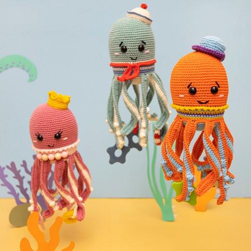 Häkelanleitung Tintenfisch Spielkuscheltier