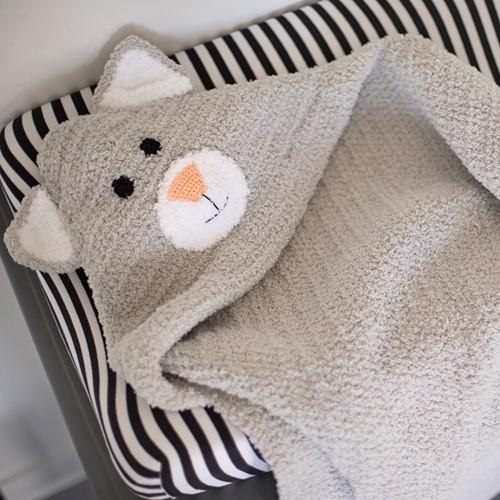 Wollplatz Babydecke Katze Häkelpaket