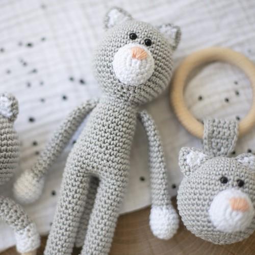 Häkelanleitung Wollplatz Kuscheltier Katze